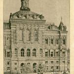 Warschau I tes Gymasium u Denkmal Kopernikas