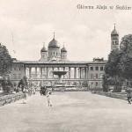 Warszawa, Główna Aleja w Saskim Ogrodzie czarno-biała